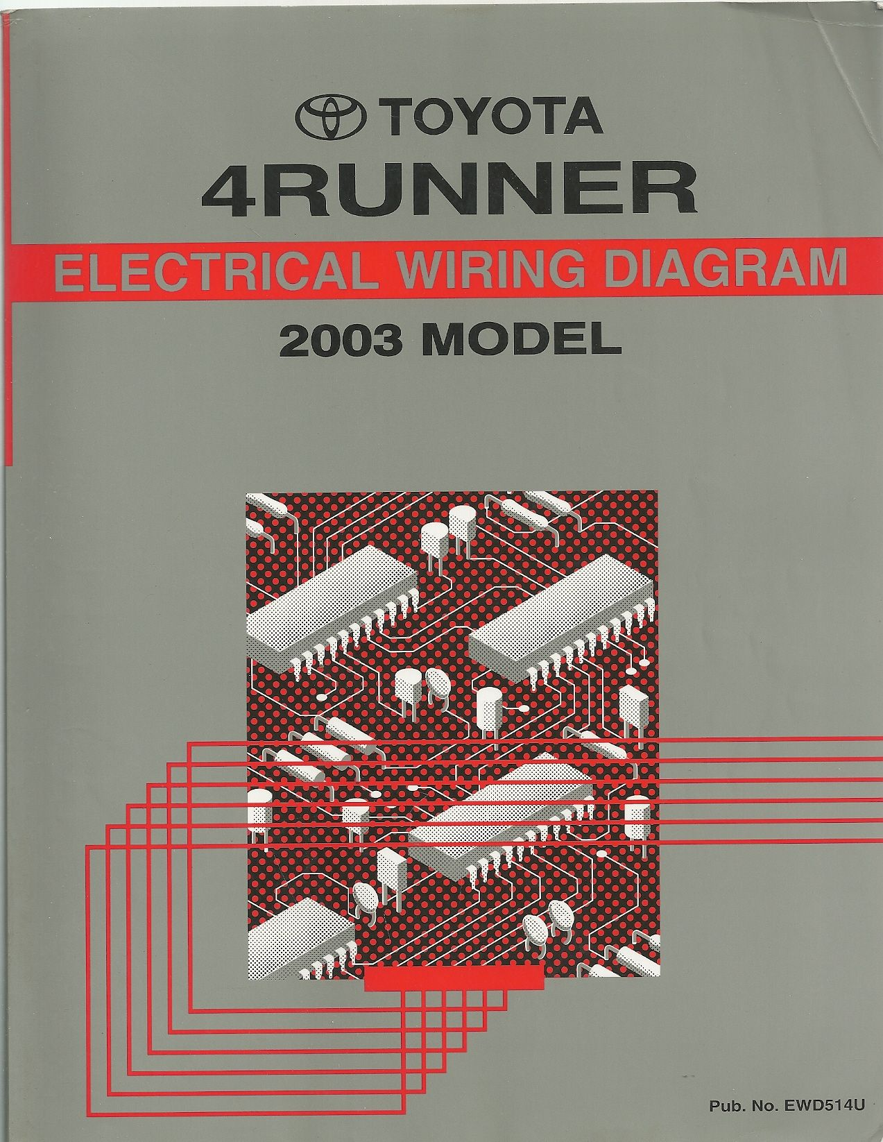 2003 Toyota 4Runner Wiring Diagram Manual Original, Toyota