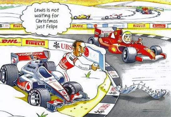 Lewis is not waiting for Christmas, just Felipe...
