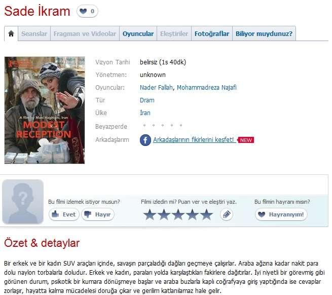 Sade İkram - 2012 DVDRip x264 - Türkçe Altyazılı Tek Link indir